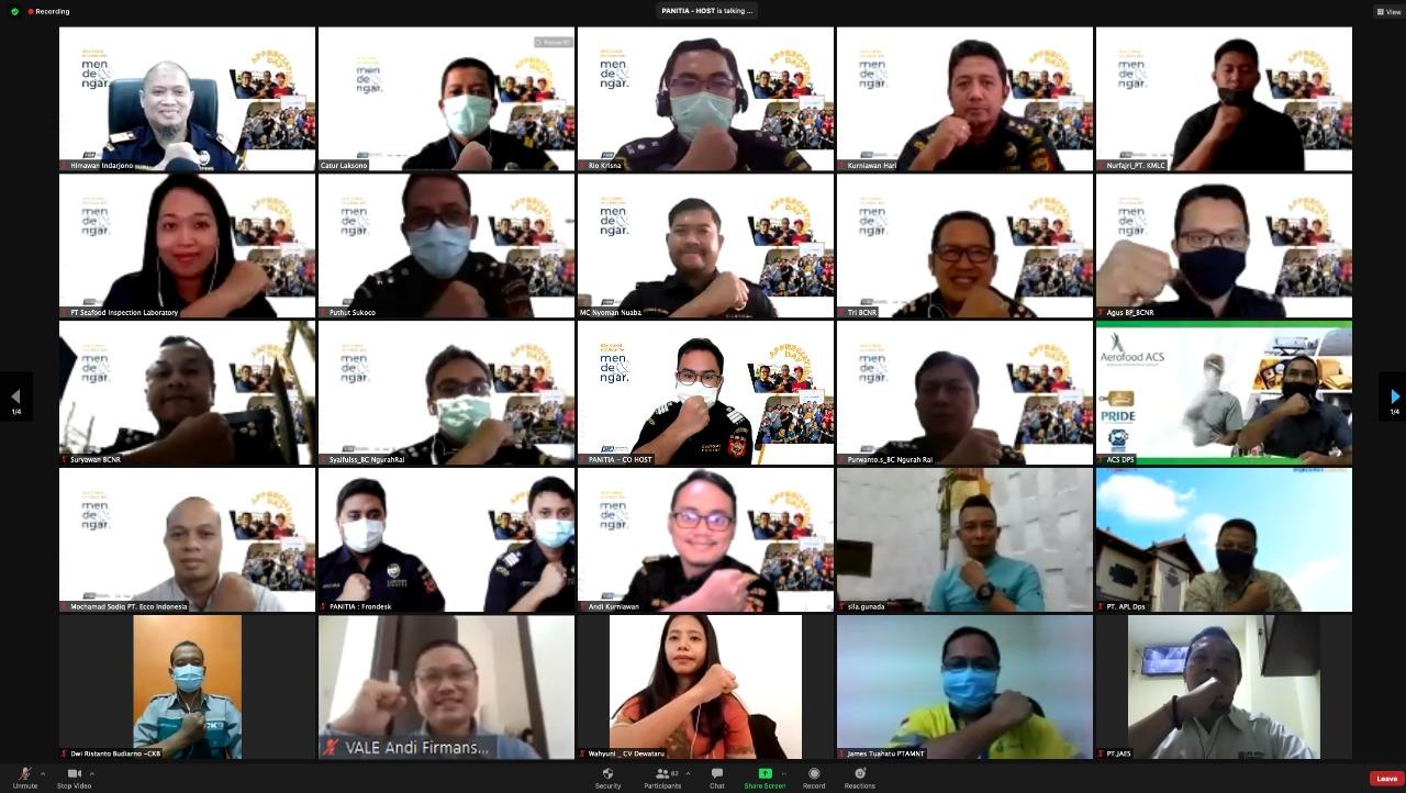 PESERTA sesi 'Bea Cukai Ngurah Rai Mendengar' yang dilakukan secara daring. Foto: ist