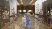 SALAH seorang wisatawan domestik yang berlibur di Nusa Dua saat perayaan Imlek dan Hari Valentine