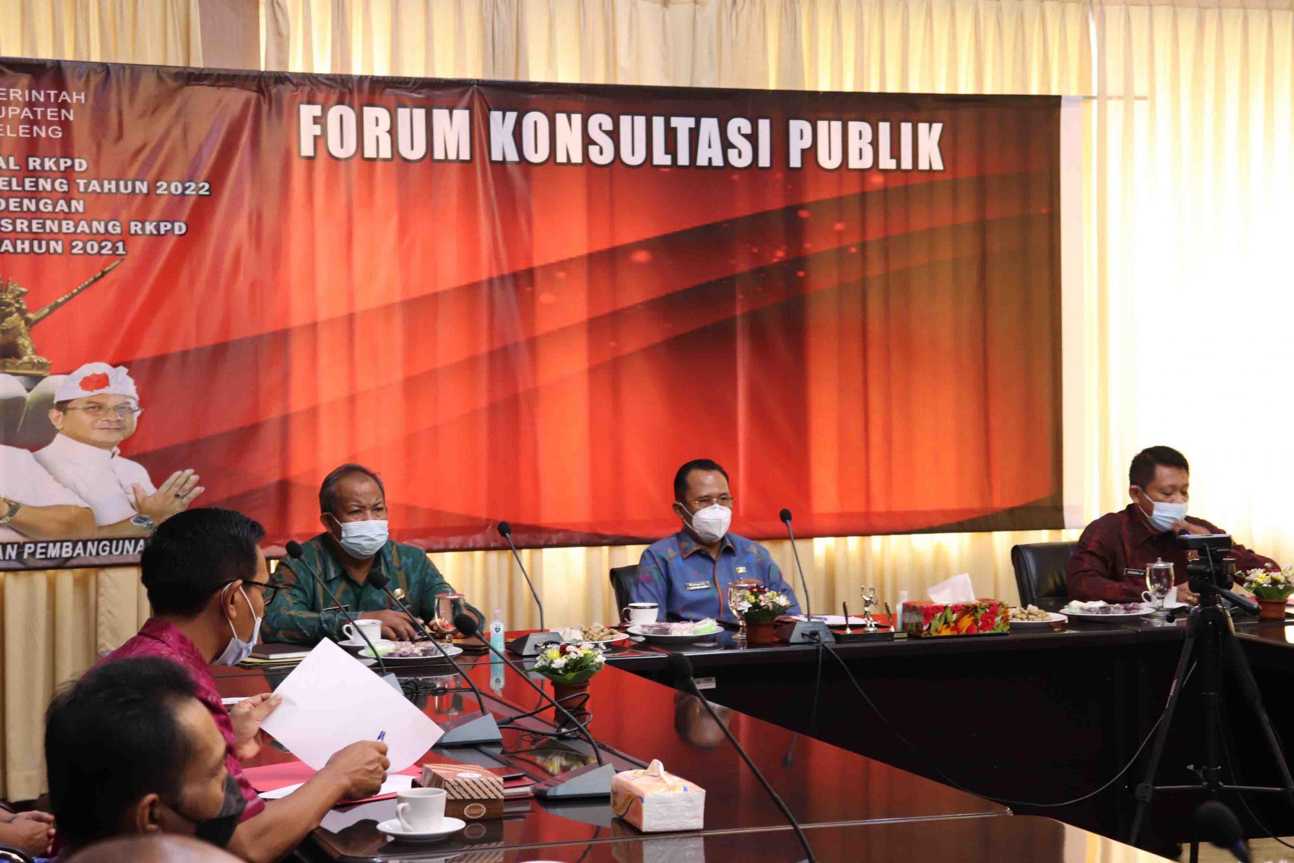 KEGIATAN Forum Konsultasi Publik Rancangan Awal RKPD Buleleng. Foto: rik