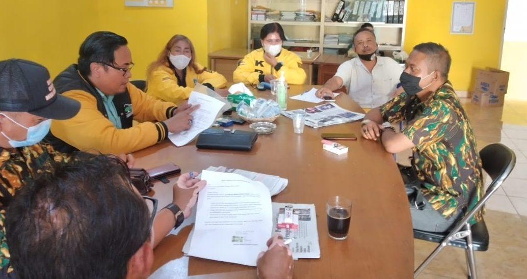 DPD Partai Golkar Karangasem menggelar rapat pembahasan aksi sosial penanggulangan bencana. Foto: nad