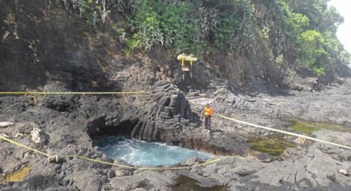 LOKASI perkiraan tiga pemancing yang hilang di Pantai Mimba, Padangbai, Manggis. Foto: nad