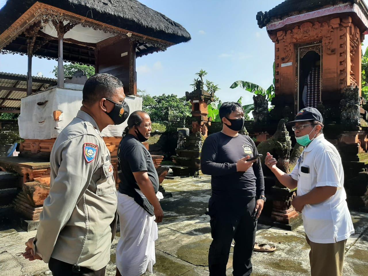 KASUS pencurian terjadi di Pura Prajapati Kaler, Ubung. Foto: ist