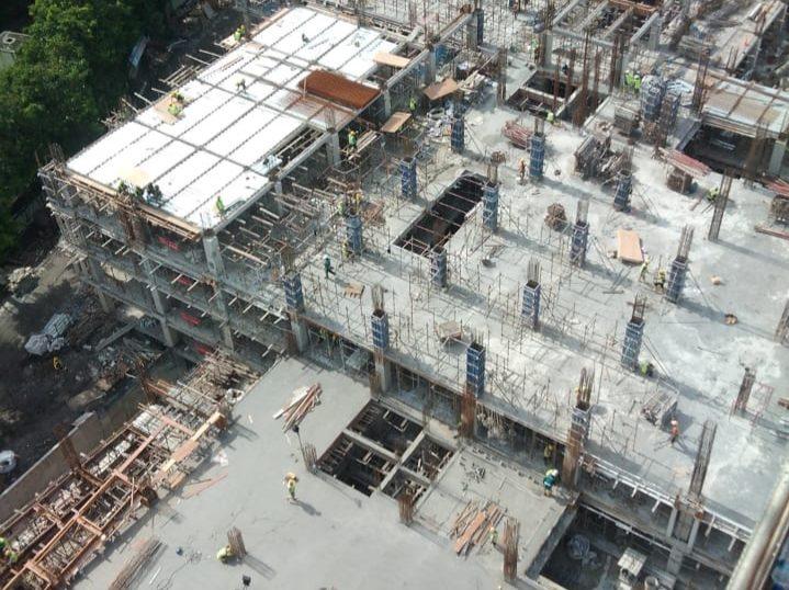 PROGRES proyek revitalisasi Pasar Umum Gianyar. Foto: adi