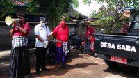 DESA Adat Saba menunda pembangunan di Pura Khayangan Tiga, karena dananya dialihkan untuk penanganan Covid-19 dan bantuan sosial ke masyarakat. Foto: adi