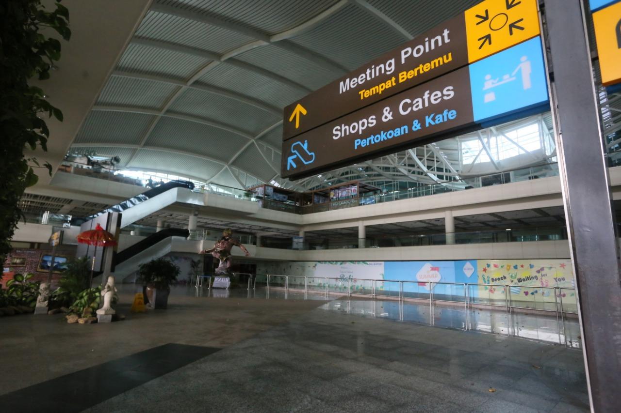 SUASANA Nyepi di Bandara I Gusti Ngurah Rai tahun lalu. Foto: ist