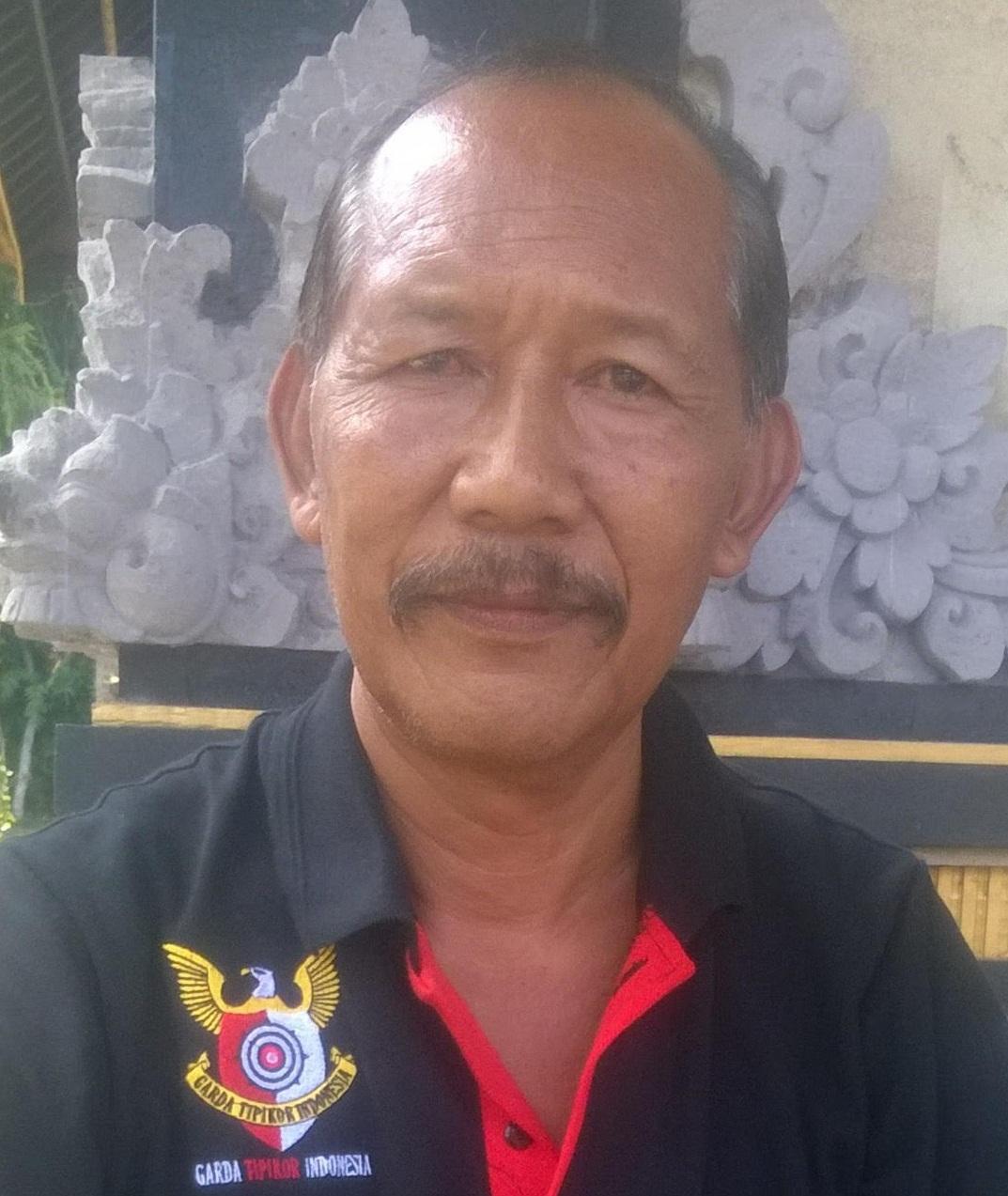KETUA DPD Garda Tipikor Gianyar, Pande Mangku Rata. Foto: adi