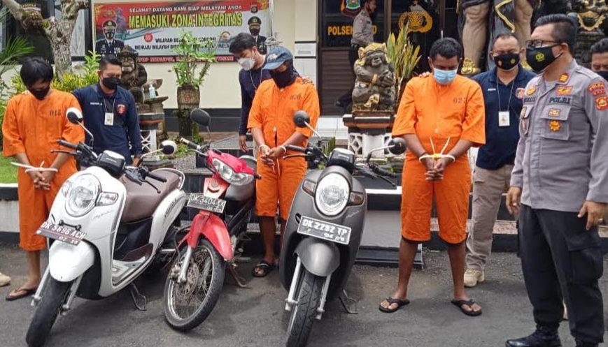 Polsek Ubud Ringkus Kawanan Maling Motor