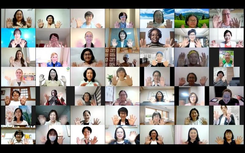 "PERINGATAN Tahunan ke-2 ""Hari Perdamaian Wanita Internasional"" pada 26 April diadakan secara online di Korea Selatan pada tanggal 26 April sore (waktu Korea). Foto: ist"