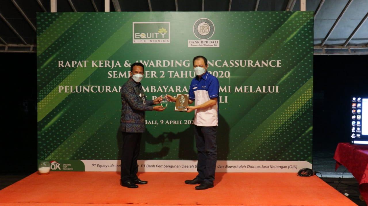 MoU Bank BPD Bali dengan asuransi Equity Life Indonesia. Foto: ist