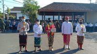 KETUA DPRD Kabupaten Klungkung, AA Gde Anom, menghadiri upacara Peringatan Hari Puputan Klungkung ke-113 dan HUT ke-29 Kota Semarapura di halaman belakang kantor Bupati Klungkung, Rabu (28/4/2021). Foto: ist