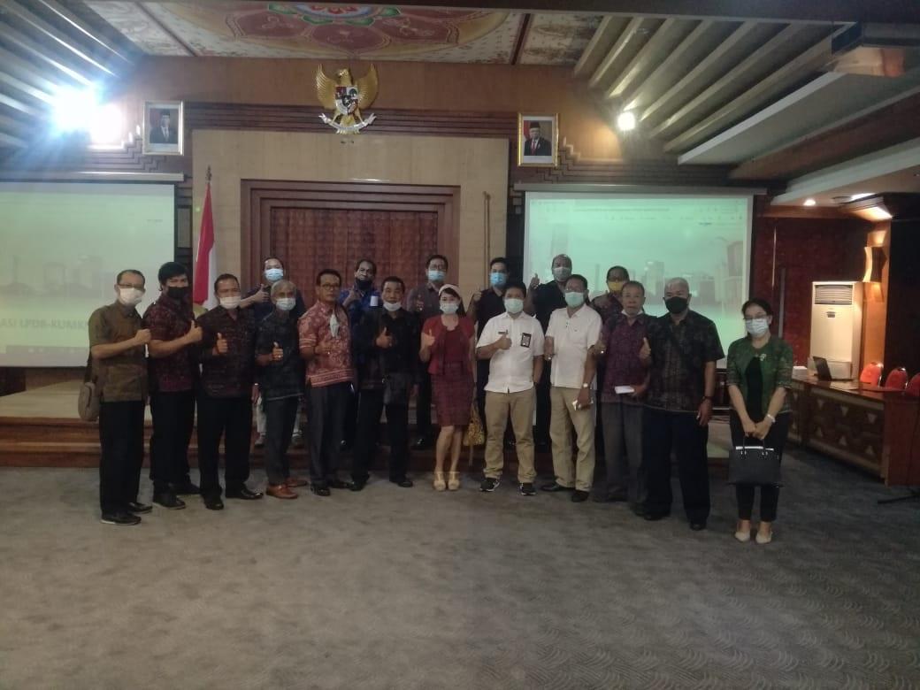 SOSIALISASI dan pendampingan teknis pembiayaan LPDB - KUMKM di Graha Sewaka Dharma, Denpasar, Rabu (7/4/2021). Foto: ist