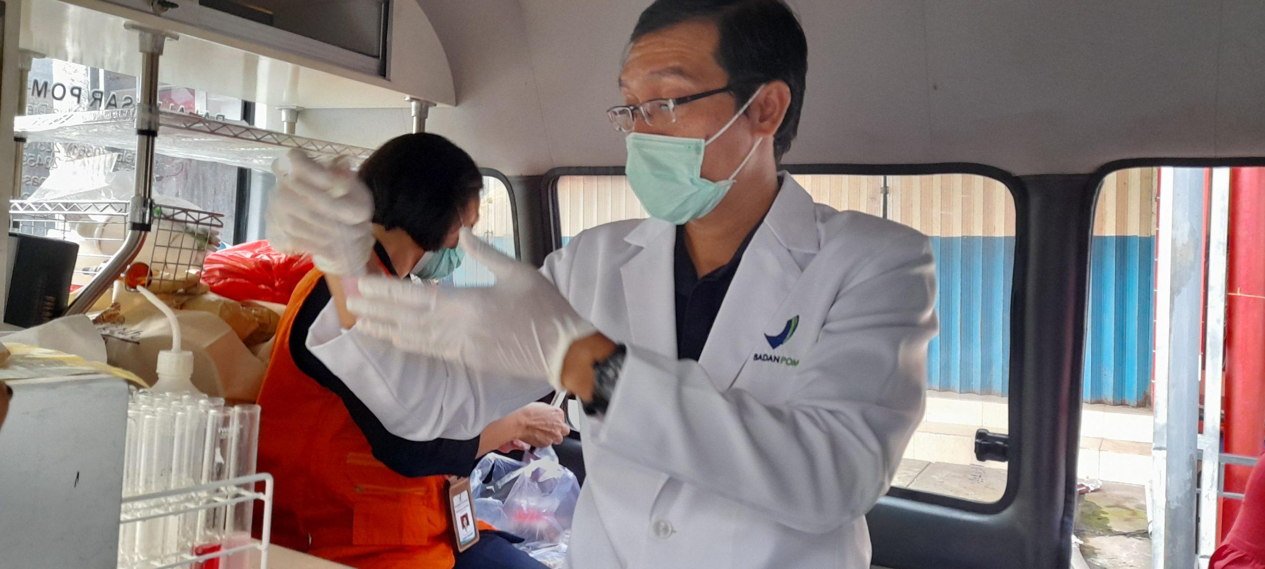 BALAI Besar Pengawasan Obat dan Makanan (BBPOM) Denpasar melakukan sidak takjil di wilayah Bangli, Senin (10/5/2021) sore.