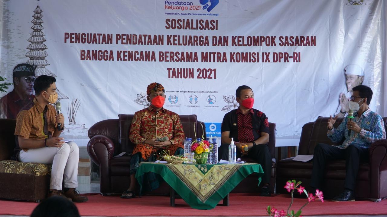 BKKBN menggelar sosialiasi Pendataan Keluarga (PK) dan Program Bangga Kencana di Desa Kertha Mandala, Abang, Karangasen, Jumat (7/5/2021). Foto: ist