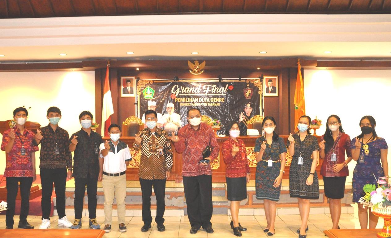 PEMILIHAN Duta Genre Tingkat Kabupaten Tabanan 2021. Foto: ist