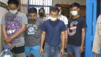 LIMA tersangka pemerkosa yang ditangkap Polres Gianyar. Foto: facebook