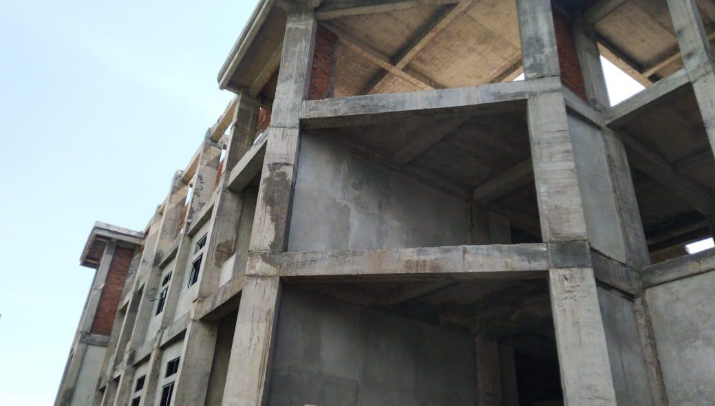 KONDISI pembangunan gedung student center Undiksha