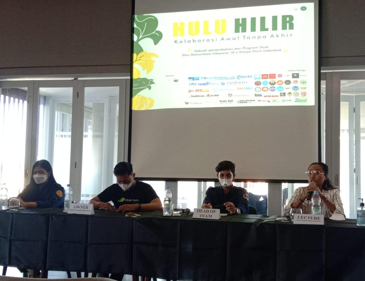 """KONFERENSI pers program """"Hulu Hilir"""" di Renon, Denpasar, Senin (7/6/2021). Foto: rap"""