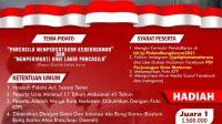 POSTER lomba pidato ala Bung Karno yang akan diselenggarakan DPC PDIP Kota Mataram. Foto: rul