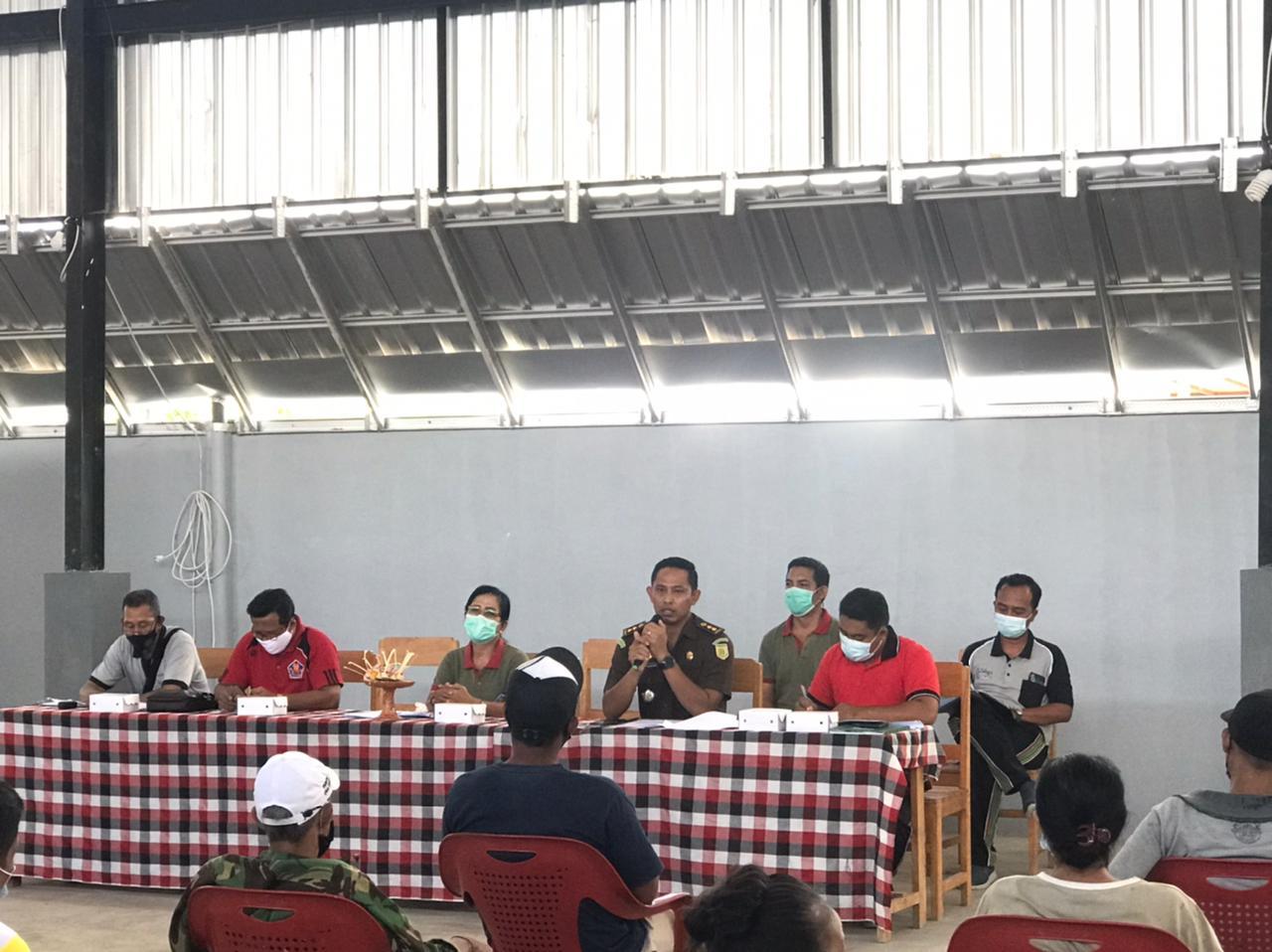 RAPAT prakonstruksi BSRS di Desa Poh Bergong. Foto: rik