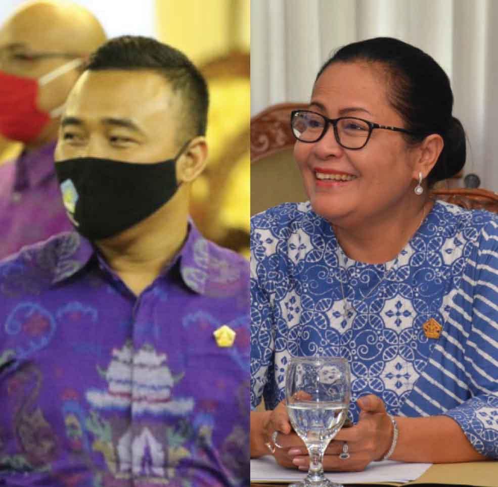 Juliarta dan Dwi Utami. Foto: hen