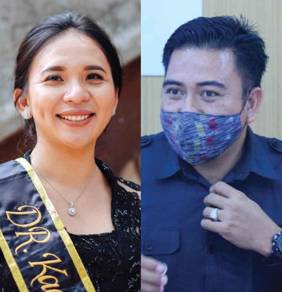 Kadek Dwita Apriani dan I Wayan Wirka. Foto: hen