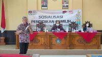 SOSIALISASI Pendidikan Pemilih yang dijalankan KPU Badung dengan menyasar seluruh kecamatan di Badung. Foto: ist