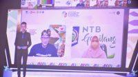 MENTERI Pariwisata dan Ekonomi Kreatif Sandiaga Salahuddin Uno saat bersama Wakil Gubernur NTB, Dr. Ir. Hj. Sitti Rohmi Djalilah, mengikuti kegiatan event Geotourism Festival and International Conference secara virtual. Foto: ist