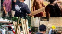 PARA relawan HBK Peduli menyiapkan peralatan dan material untuk program pemugaran RTLH. Foto: rul