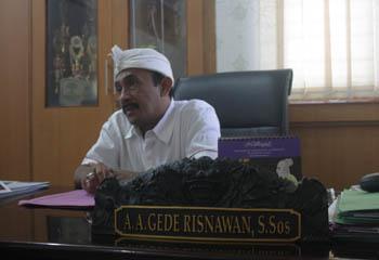 WALI Kota Denpasar, IGN Jaya Negara, menunjuk Asisten II Setda Kota Denpasar, AA Gede Risnawan, menjadi Pelaksana Tugas (Plt) Kepala Dinas Kebudayaan Kota Denpasar. Foto: ist