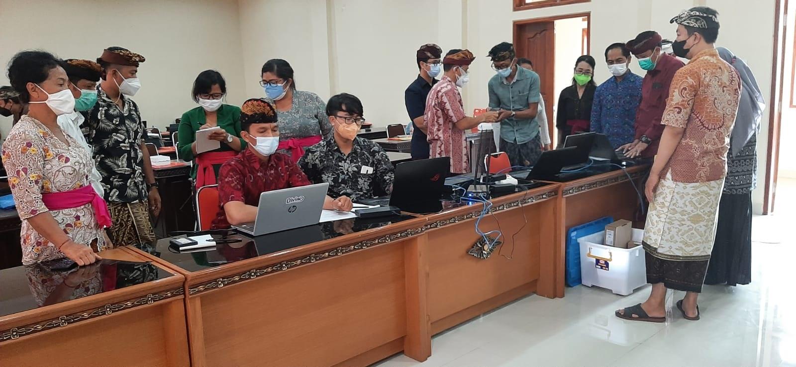 PELATIHAN proktor ANBK untuk satuan pendidikan jenjang SMP yang diselenggarakan Disdikpora Kota Denpasar, Kamis (2/9/2021). Foto: ist