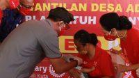 PEMBERIAN vaksin polio di Desa Medahan, Blahbatuh. Foto: adi